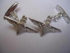 New 925 Sterling Silver PARACHUTE Regiment Men's Cufflinks. Excellent Quality