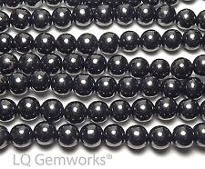 """15.5"""" Strand RUSSIAN SHUNGITE 8mm Round Beads NATURAL"""