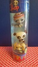 lps tube 175 176 177 green eye panda hat cat maltese dog littlest pet shop