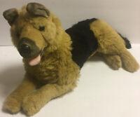 "E&J Classic GERMAN SHEPHERD Dog 24"" Laying Plush Stuffed Animal"