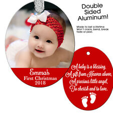 Baby's First Christmas - Personalized Christmas Ornament - Keepsake New Baby