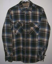 Vintage Dakota Grizzly Fleece Insulated Flannel Surfer Lumberjack Shirt Med