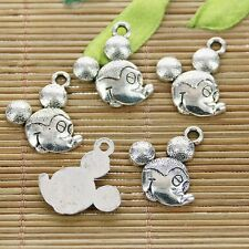 10pcs antiqued silver color Mickey mouse head design charms  h1185