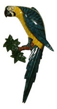 Tropical Macaw Blue Parrot Tiki Wall Nursery Bath Decor