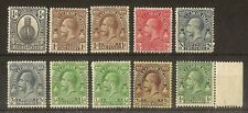 Turks & Caicos 1922 Definitives Mint (10v)
