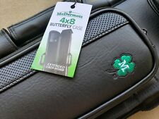 New McDermott Pool Cue Case, Soft 4x8, Butterfly Case, Black With Green Clover