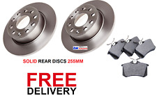 FOR SKODA OCTAVIA MK 2 1.4 1.6 1.9 2.0 TDi 04-11 REAR 2 BRAKE DISCS & PADS SET