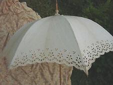 Vintage Edwardian Lace Umbrella 33w 38L Rosewood Handle Ivory