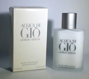 Acqua DI Gio By Giorgio Armani 100ml 3.4 Fl.Oz Men After Shave Balm New In Box