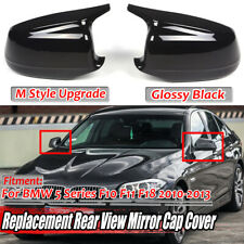 For BMW F10 F11 F18 5 Series 2010-2013 M Style Rear View Mirror Cap Cover Black