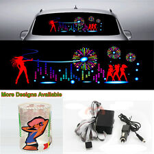 DJ Stage Music Rhythm Car Sticker Flash Light Sound Activated Equalizer 90*25cm
