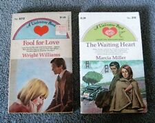 2 Vintage Paperbacks a Valentine Book - Fool For Love #4212 The Waiting Heart #2