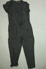 JIGSAW black white polka dot 100% silk pants jumpsuit romper playsuit size 8 EUC