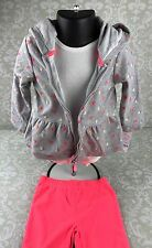 NWT Baby Girl 24 Mo Neon Hearts 3 Pc Outfit Set Pants Bodysuit Hoodie Carter's