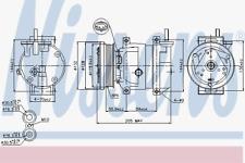 Kompressor Klimaanlage - Nissens 89221
