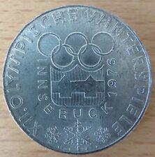 Österreich 100 Schilling 1974, XII. Olympische Winterspiele, Silber-Gedenkmünze