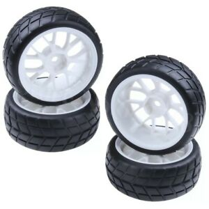 Rc car touring car wheels and tyres set 12mm hex. Free wheel nuts!