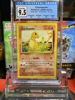 1st Edition Italian Base Set Charmander CGC 9.5 ✨GEM MINT✨ Pokemon Card PSA BGS