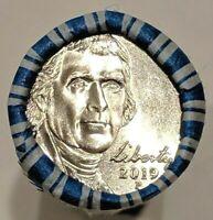 2019 P Philadelphia Mint Jefferson Nickel BU MS UNC 1 Roll $2 FV Unsearched Roll