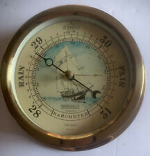 Vintage NAUTICAL Ocean SPRINGFIELD Wall BAROMETER CLIPPER SHIP GRAPHIC
