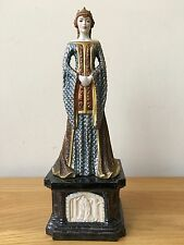 Queen Guinevere Porcelain Figurine On A Pedestal ~Franklin Mint