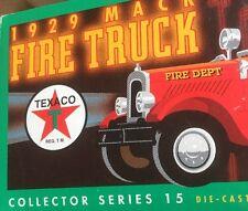 1929 Mack Texaco Fire Truck Diecast Replica Coin Bank by ERTL Collectibles NIB