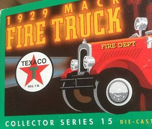 1929 Mack Texaco Fire Truck Diecast Replica Coin Bank by ERTL Collectibles NIB