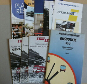 10 Belgian Bus Tram & Railway Timetables Maps & Leaflets 1987-2008 ICIR