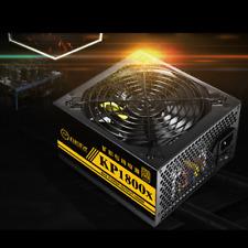 1600W Modular Power Supply 80 Plus Gold For 6 GPU Eth Rig Ethereum Mining Miner