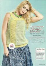 Knitting pattern for ladies sleeveless top in 2 colours