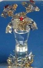 """Swarovski crystal 1006036 star flower blossoms in pot amber with red 1-1/2"""" tall"""
