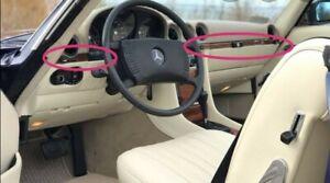 Mercedes sl r107 Wood Dashboard Trim Set Burlwood mercedes 560sl trim
