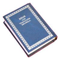 "siddur Jewish Prayer  Book Hebrew Spanish israel  5x3"".Navy blue cover"