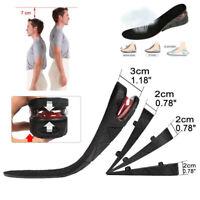 3cm5cm9cm Unisex Adjustable Shoe Lift Height Increase Heel Insoles Insert Taller