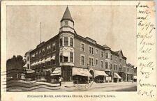 1906. CHARLES CITY, IOWA. HILDRETH HOTEL & OPERA HOUSE. POSTCARD DB30