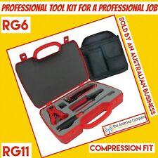 RG6 Compression Tool Kit TV Antenna Professional  FOXTEL INSTALLATION TRADE HDTV
