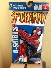 Boys A-Shirts Pack of 2 Marvel Spiderman Size 4