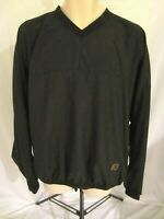 FootJoy Long Sleeve Jacket Black Large Pull Over Zip Pockets Mens