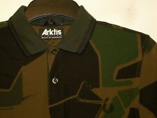 Fred Perry X ARKTIS camouflage print army polo shirt t-shirt SM4046 S small F407