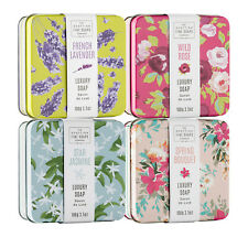 The Scottish Fine Soaps Company - Set of 4 Assorted Floral Soaps in Gift Tins