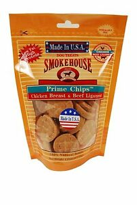 Smokehouse Prime Chips Chicken Breats and Beef Ligament 4 oz.