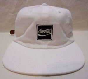 Coca Cola Coke Pac Sun Strap Back Hat Cap White One Size