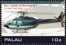 BELL 206/206B-3 JetRanger III (Flying Taxi Cab) Helicopter Aircraft Stamp