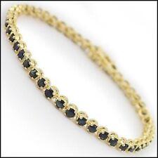 10.12 CT Black Sapphire Designer 18K Gold Layered Bracelet List Price $635