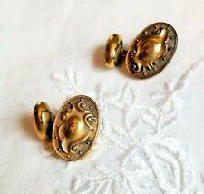Antique Ladies Edwardian Cufflinks Bean Back ~ #2
