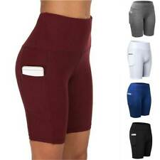 Women Compression Sport Shorts Leggings With Pocket Running Exercise Yoga Pants
