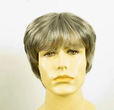Perruque homme 100% cheveux naturel gris poivre et sel ERIC 51