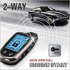 2-Way sistema de seguridad alarma de coche con LCD de 2 Piezas Kit súper larga distancia controladores