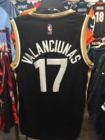 459bd2cf125 NBA Toronto Raptors Jonas Valanciunas Adidas Jersey Black Gold Alternate  Small