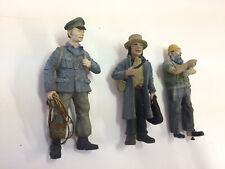"""Three G scale figures cast in white metal. All painted and all 3"""" tall."""